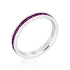 Stylish Stackables Rhodium and Amethyst Crystal Eternity Ring-Rings-Here Comes The Bling™