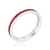 Stylish Stackables Rhodium and Ruby Crystal EternityRing-Rings-Here Comes The Bling™