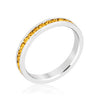 Stylish Stackables Rhodium and Yellow Crystal Eternity Ring-Rings-Here Comes The Bling™
