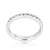 Stylish Stackables Rhodium Clear Crystal Eternity Ring