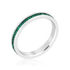 Stylish Stackables Rhodium Emerald Crystal Eternity Ring-Rings-Here Comes The Bling™