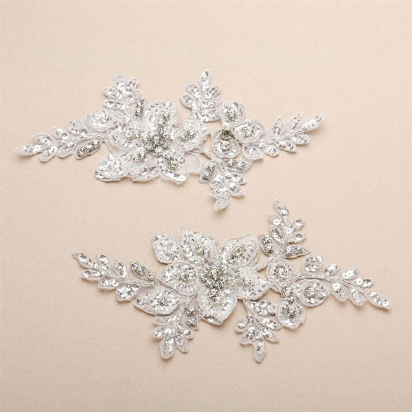 Sue Applique (Available in Ivory or White)-Applique-Here Comes The Bling™