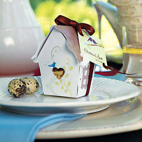 Sweet Bird House Favor Box Pack of 12-Favors-Boxes-Here Comes The Bling™