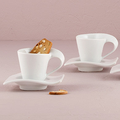 """Swish"" Cup and Saucer Sets-Decor-Table-Here Comes The Bling™"