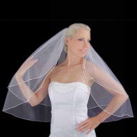 Couture Swarovski Rhinestone Edge Veil (Available in 7 Lengths)