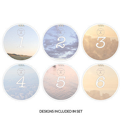 "Table Numbers- ""Wanderlust"" Round (Sold in Packs of 2-Table Numbers-Here Comes The Bling™"
