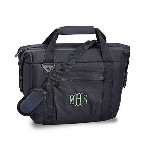 Tailgate 12-pack Cooler Bag in Black-Cooler Tote-Here Comes The Bling™