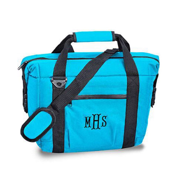 Tailgate 12-pack Cooler Bag in Blue-Cooler Tote-Here Comes The Bling™