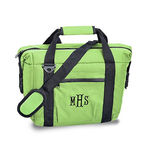 Tailgate 12-pack Cooler Bag in Green-Cooler Tote-Here Comes The Bling™