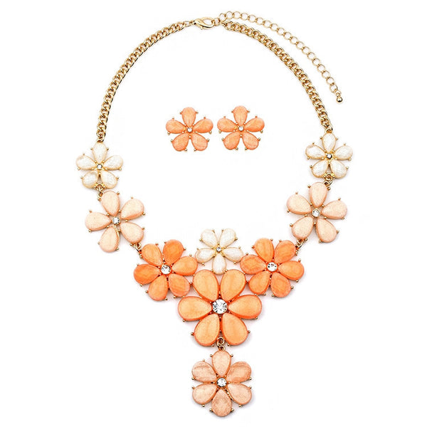 Tangerine Sherbert Flower Power Set-Sets-Here Comes The Bling™