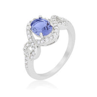 Tanzanite Halo Pave Cocktail Ring-Rings-Here Comes The Bling™