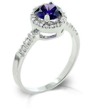 Tanzanite Purple Crown Ring-Rings-Here Comes The Bling