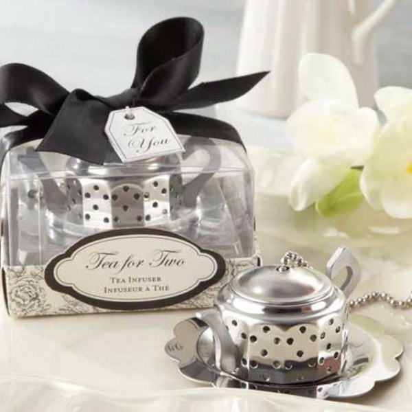 """Tea for Two"" Teapot Tea Infuser-Favors-Kitchen Tools-Here Comes The Bling™"