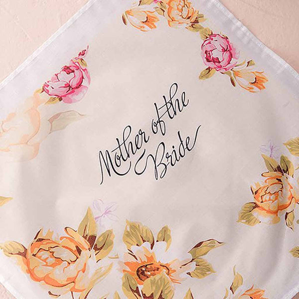 "Tea Rose ""Mother"" Personalized Handkerchief-Hankie-Here Comes The Bling™"