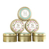 """Tea Time"" Gold Round Candy Tins (Set of 12)-Favors-Jar-Here Comes The Bling™"