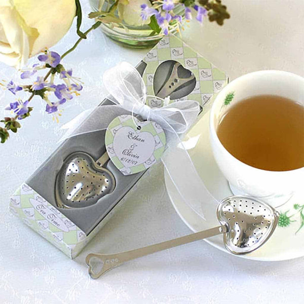 """Tea Time"" Heart Tea Infuser in Tea-Time Gift Box-Favors-Kitchen Tools-Here Comes The Bling™"