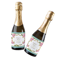 """Tea Time"" Mini Wine Bottle Labels (Set of 24)-Favors-Bags-Here Comes The Bling™"