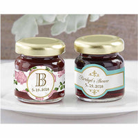 """Tea Time"" Personalized Strawberry Jam (Set of 12)-Favors-Edible-Here Comes The Bling™"