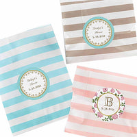 """Tea Time"" Striped Favor Paper Bags (Set of 25)-Favors-Bags-Here Comes The Bling™"