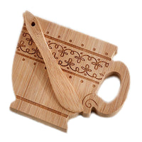 """Tea Time"" Whimsy Teacup-Shaped Cheeseboard and Spreader-Favors-Kitchen Tools-Here Comes The Bling™"