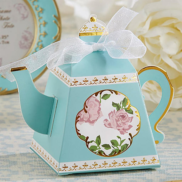 """Tea Time"" Whimsy Teapot Favor Box (Set of 24)-Favors-Kitchen Tools-Here Comes The Bling™"