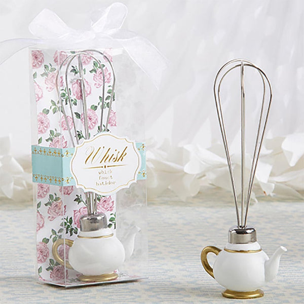 """Tea Time"" Whimsy Teapot Wisk-Favors-Kitchen Tools-Here Comes The Bling™"