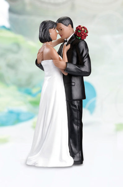 Tender Moment Figurine-Afr/Amr-Cake Toppers-Here Comes The Bling™