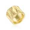 Textured Organic Matte Golden Eternity Ring-Rings-Here Comes The Bling™
