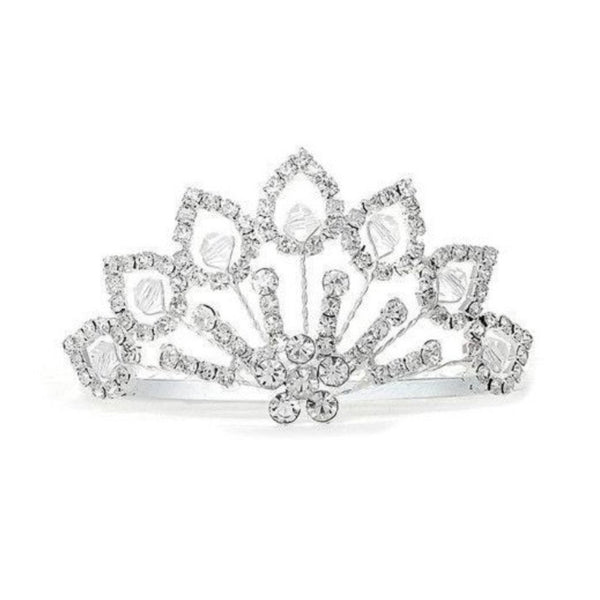 THIS PRICE IS NOT A TYPO! Rhinestone Tiara Comb with Crystal Beads-Combs-Here Comes The Bling™