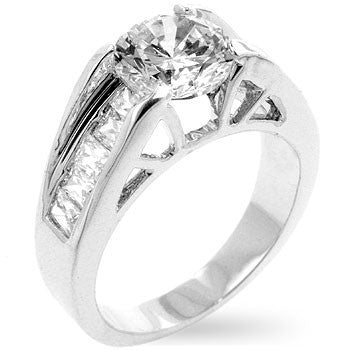 Timeless Clear Engagement Ring-Rings-Here Comes The Bling™