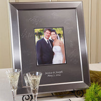 Titanium Inscribable Signature Keepsake Mat Kit Large-Guest Books-Here Comes The Bling™
