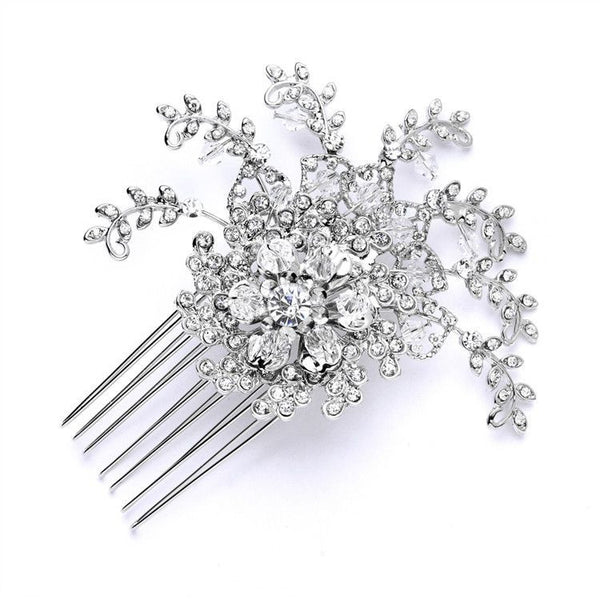 Top Selling Prom or Wedding Crystal Spray Comb-Combs-Here Comes The Bling™