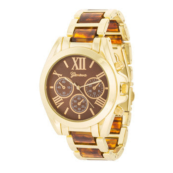 Tortoise Gold Watch-Watches-Here Comes The Bling