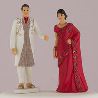 Traditional Indian Bride And Groom Figurine Cake Topper-Cake Toppers-Here Comes The Bling™