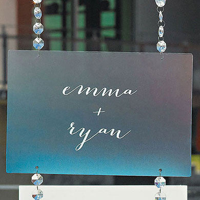 Transparent Acrylic Sign Large-Decor-Hanging-Here Comes The Bling™