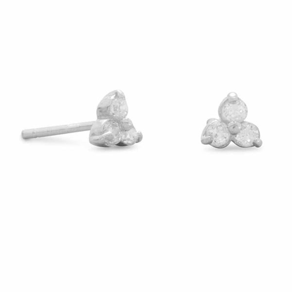 Tri Shape CZ Stud Earrings-Earrings-Here Comes The Bling™