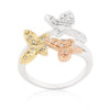 Triple Butterfly Cubic Zirconia Ring-Rings-Here Comes The Bling™