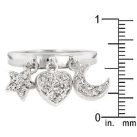 Triple Charm Ring-Rings-Here Comes The Bling™