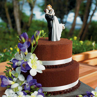 """True Romance"" Wedding Cake Topper with Fair Skin Tone ( Select from 7 Hair Colors)-Cake Toppers-Here Comes The Bling™"