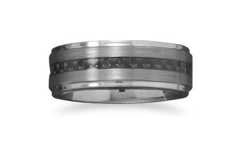 Tungsten Ring with Carbon Fiber Center-Men's-Rings-Here Comes The Bling™