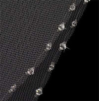 Twinkling Crystal Bead Trimmed Bridal Veil-Veils-Here Comes The Bling™
