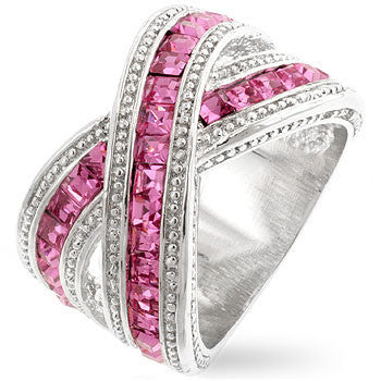 Twisting Pink Band-Rings-Here Comes The Bling™