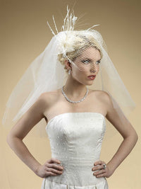 Two Layer Cut Edge Bridal Veils-Veils-Here Comes The Bling™