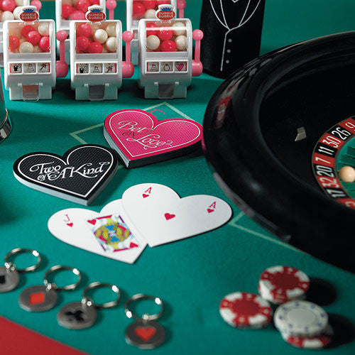 """Two of a Kind"" Heart Shaped Playing Cards-Favors-Playing Cards-Here Comes The Bling™"