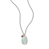 Two Tone Chalcedony and Iolite Drop Necklace-Necklaces-Here Comes The Bling™