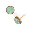 Two Tone Chalcedony Stud Earrings-Earrings-Here Comes The Bling™