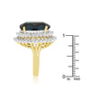 Two-tone Double Halo Cocktail Ring-Rings-Here Comes The Bling™