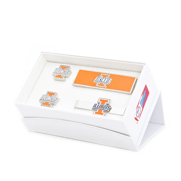 University of Illinois Fighting Illini 3-Piece Gift Set-Mens 3 Piece Gift Set-Here Comes The Bling™