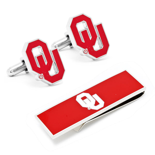 University of Oklahoma Cufflinks and Money Clip Gift Set-Mens 3 Piece Gift Set-Here Comes The Bling™