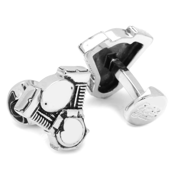 V-Twin Motor Cufflinks-Cufflinks-Here Comes The Bling™